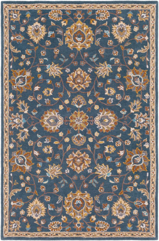 Browns Hand Tufted Wool Teal/Beige Area Rug Rug Size: Rectangle 8' x 10'