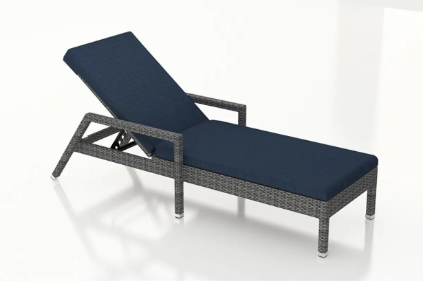 District Reclining Chaise Lounge with Cushion Color: Spectrum Indigo