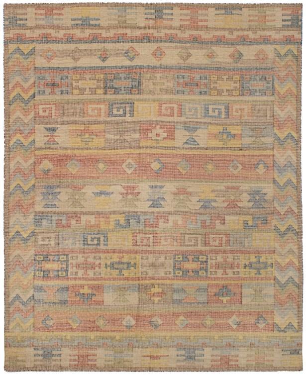 Bevers Hand-Woven Wool Dark Copper/Light Khaki Area Rug Rug Size: Rectangle 8' x 10'
