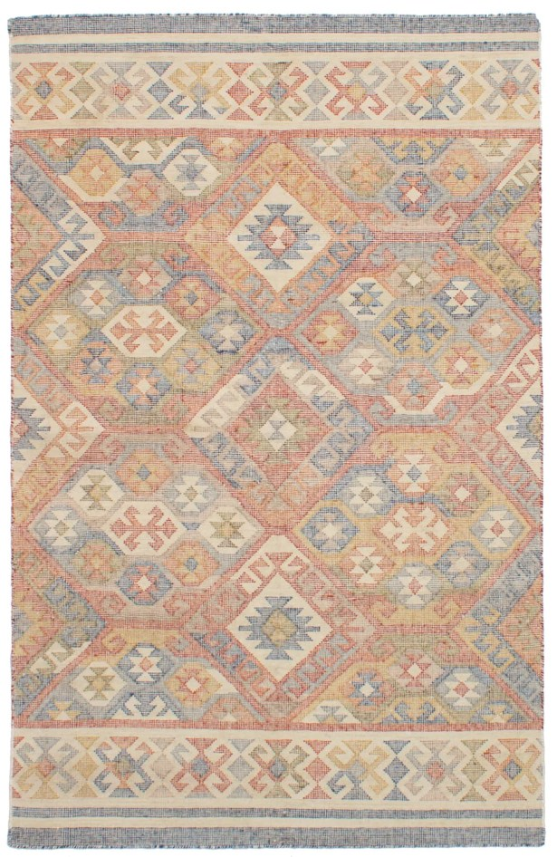 Bevers Hand-Woven Wool Red Area Rug Rug Size: Rectangle 4'11