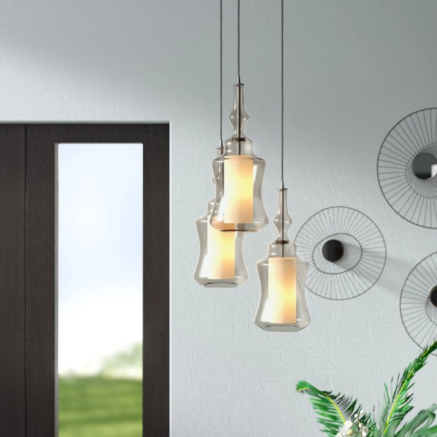 Cabell Triangle Pan 3-Light Pendant Shade Color: Champagne Plated