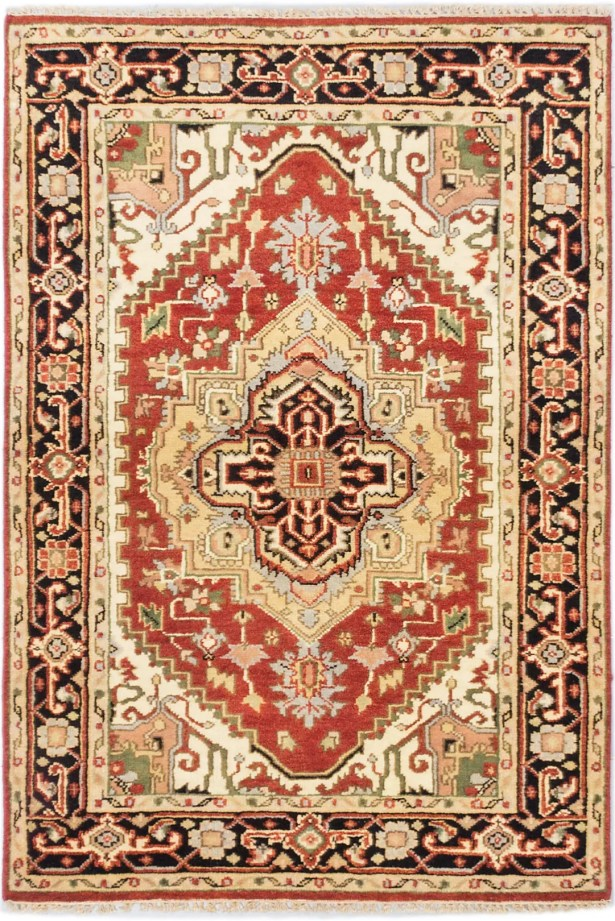One-of-a-Kind Doerr Hand Knotted Wool Copper Area Rug