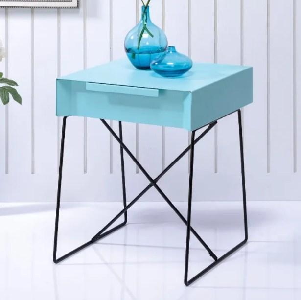 Battiste End Table Table Top Color: Blue