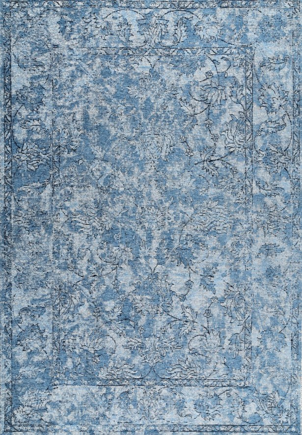Charette Blue Area Rug Rug Size: Rectangle 6'7