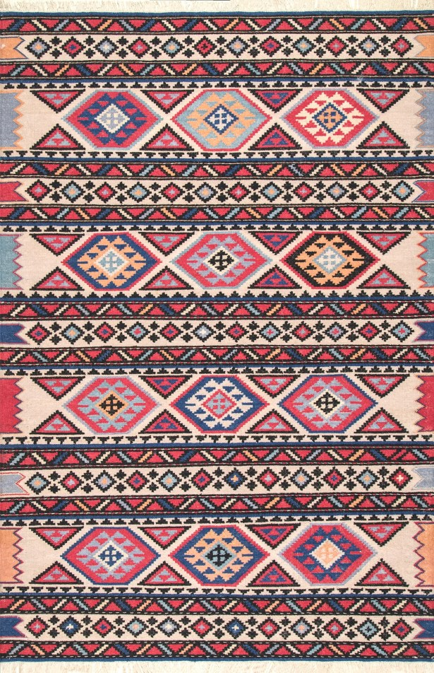Chaparro Wool Red Area Rug Rug Size: Rectangle 7'6