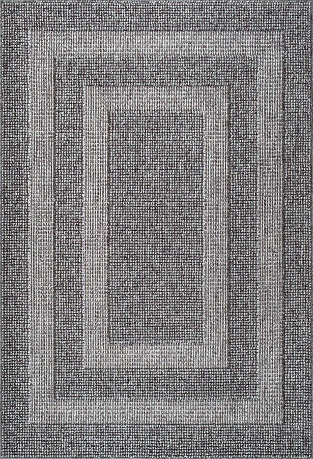 Teter Dark Gray Area Rug Rug Size: Rectangle 7'10