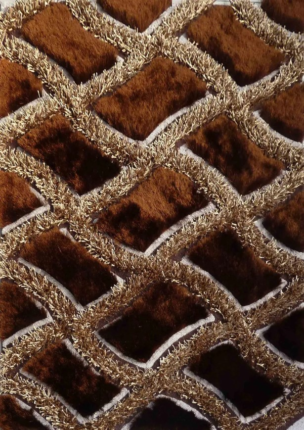 Yarbrough Hand-Tufted Brown Area Rug Rug Size: Rectangle 7'6