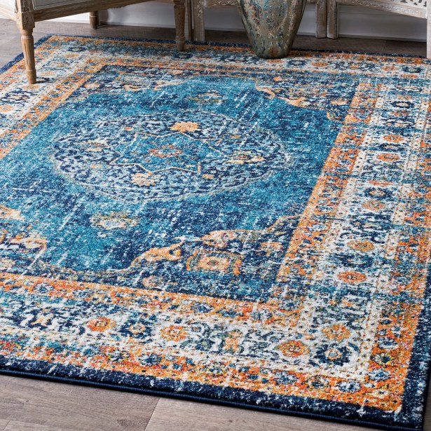 Durr Blue Area Rug Rug Size: Rectangle 5' x 7'5
