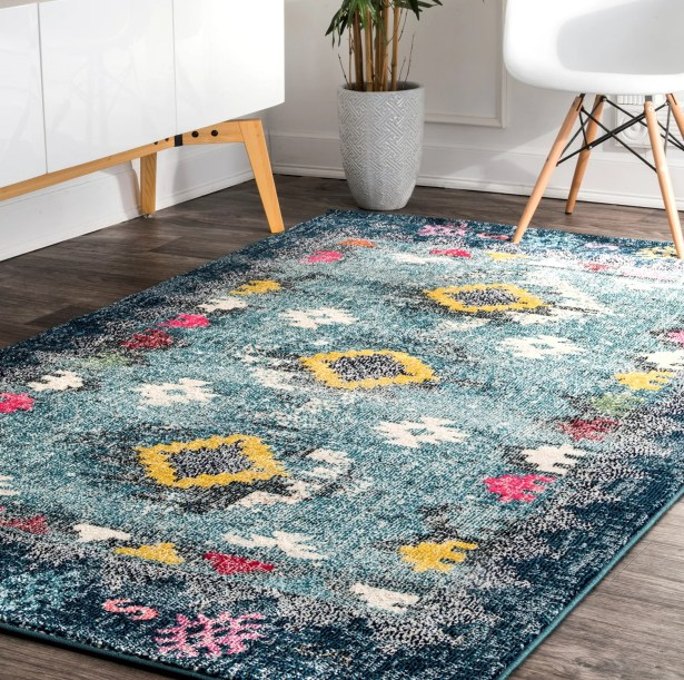 Cavazos Blue Area Rug Rug Size: Rectangle 8' x 10'