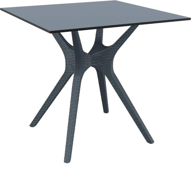 Fray Square Dining Table Color: Dark Gray