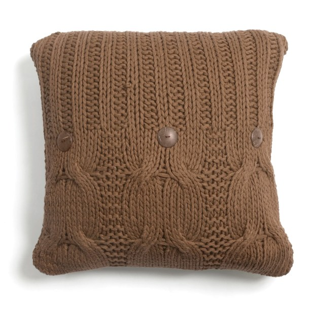 Cable Knit Cotton Throw Pillow Size: 26