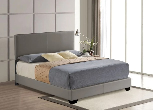Hawks Upholstered Panel Bed Size: Queen, Color: Gray