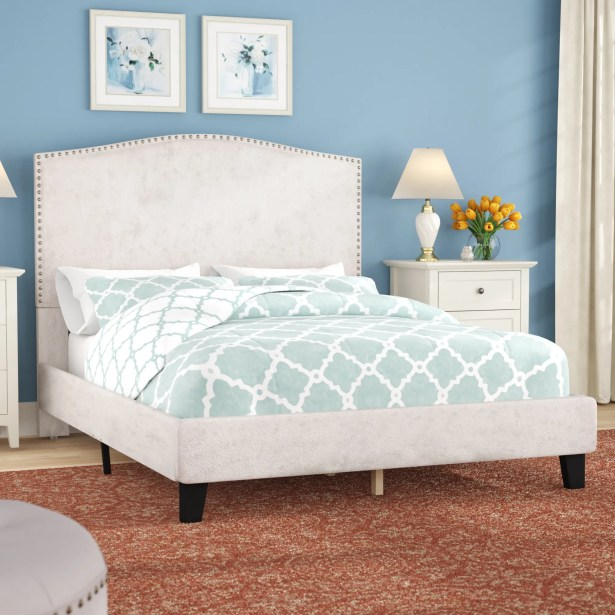 Mckissick Upholstered Panel Bed Color: Cream, Size: Queen
