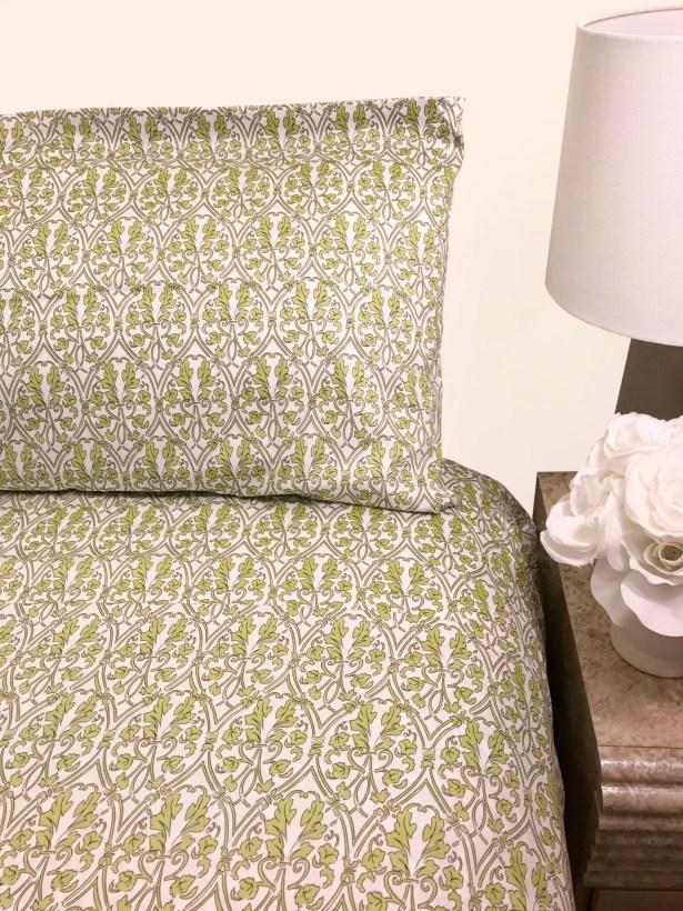 Cragin 300 Thread Count Sheet Set Color: Green, Size: Queen