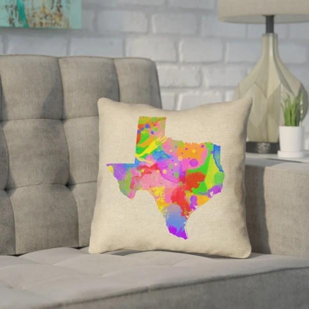 Sherilyn Texas Throw Pillow Size: 18
