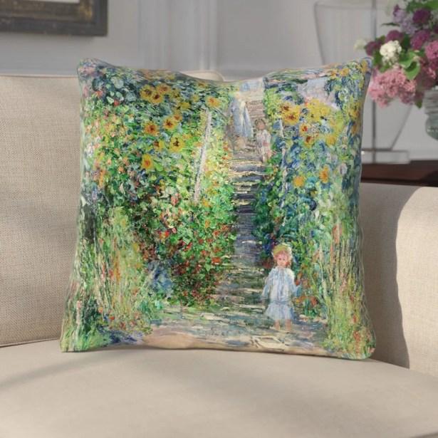 Gerwalta Flower Garden Throw Pillow Size: 14