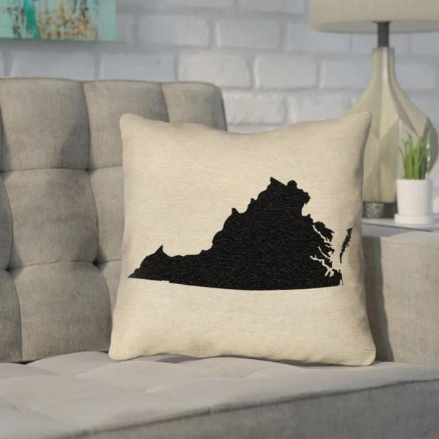 Sherilyn Virginia Throw Pillow Color: Black, Size: 28