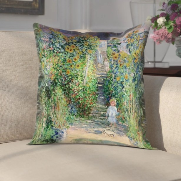 Gerrald Flower Garden Pillow Cover Size: 16