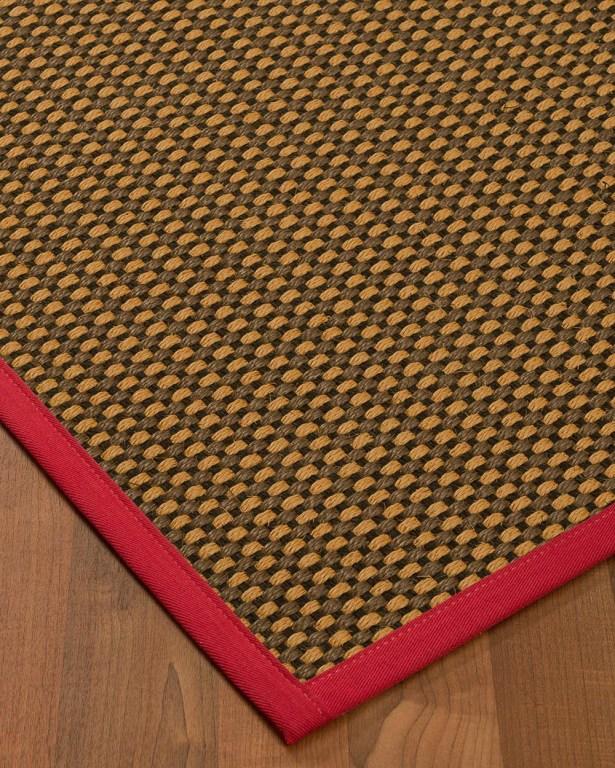 Kimbrel Hand-Woven Brown Area Rug Rug Size: Rectangle 6' x 9'
