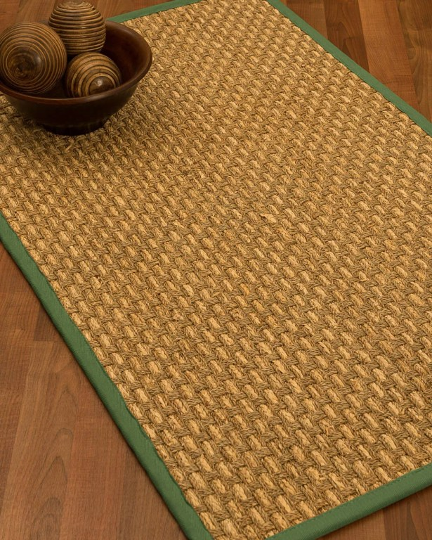 Castiglia Border Hand-Woven Beige/Green Area Rug Rug Size: Rectangle 6' x 9', Rug Pad Included: Yes