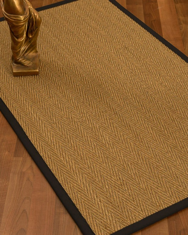 Mahaney Border Hand-Woven Beige/Black Area Rug Rug Size: Rectangle 9' x 12', Rug Pad Included: Yes