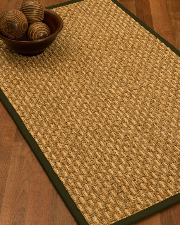 Castiglia Border Hand-Woven Beige/Moss Area Rug Rug Size: Rectangle 5' x 8', Rug Pad Included: Yes