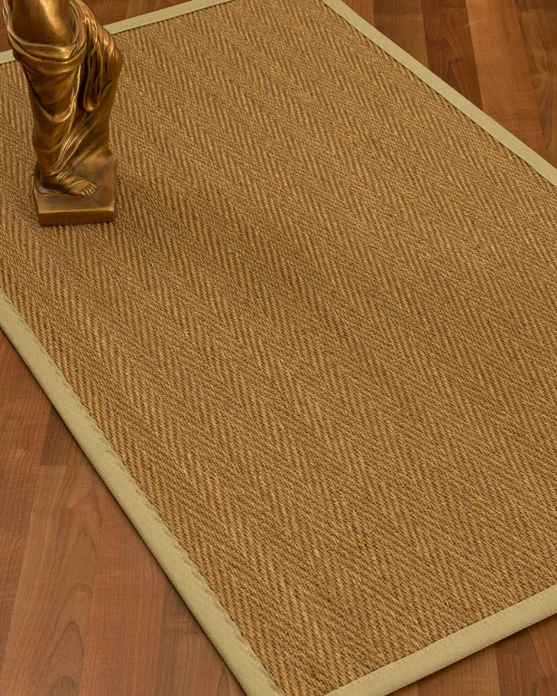 Mahaney Border Hand-Woven Beige/Sand Area Rug Rug Size: Rectangle 5' x 8', Rug Pad Included: Yes