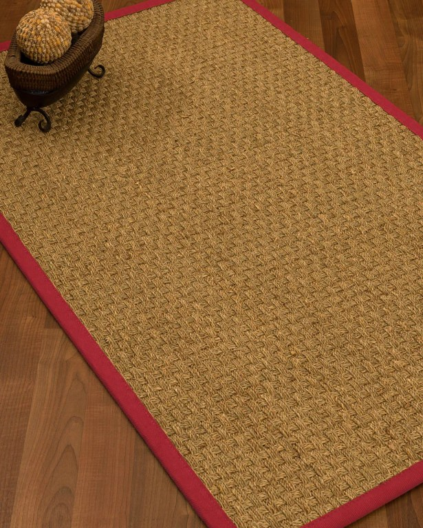 Antiqua Border Hand-Woven Beige/Red Area Rug Rug Size: Rectangle 8' x 10', Rug Pad Included: Yes