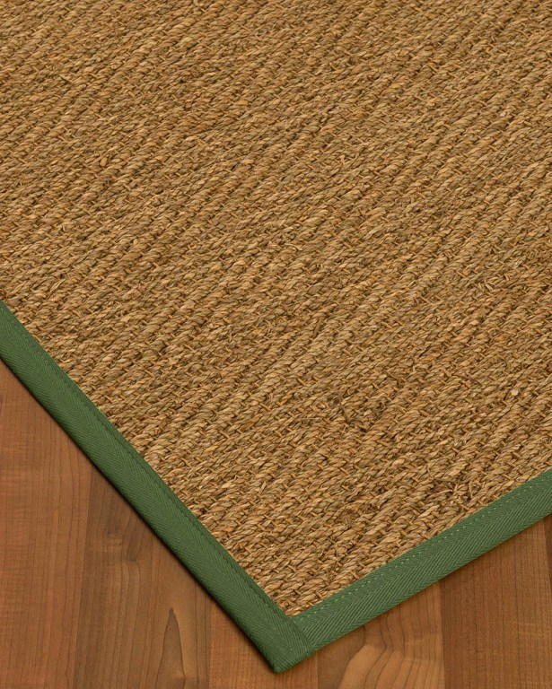 Chavarria Border Hand-Woven Beige/Green Area Rug Rug Pad Included: No, Rug Size: Runner 2'6