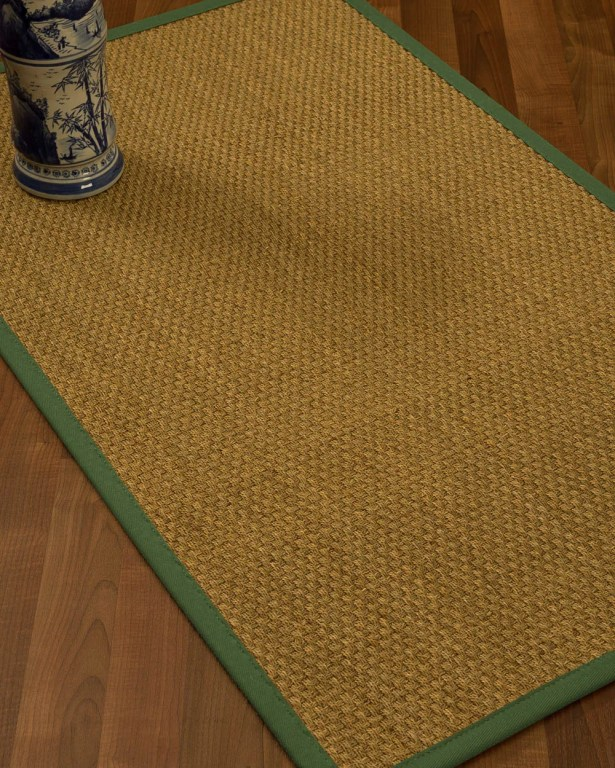 Rosabel Border Hand-Woven Beige/Green Area Rug Rug Pad Included: No, Rug Size: Rectangle 3' x 5'