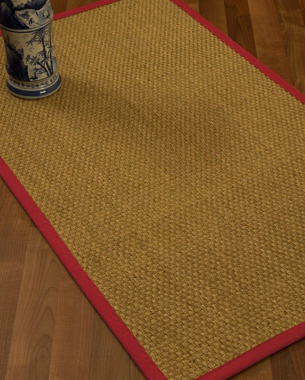 Rosabel Border Hand-Woven Beige/Red Area Rug Rug Size: Rectangle 5' x 8', Rug Pad Included: Yes