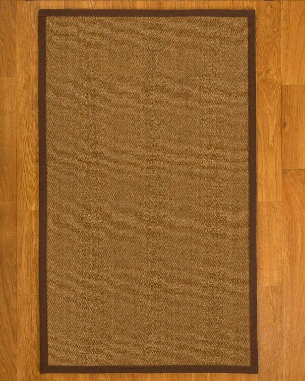 Asmund Border Hand-Woven Brown Area Rug Rug Pad Included: No, Rug Size: Rectangle 3' x 5'
