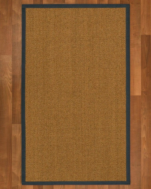 Asmund Border Hand-Woven Brown/Marine Area Rug Rug Size: Rectangle 9' x 12', Rug Pad Included: Yes