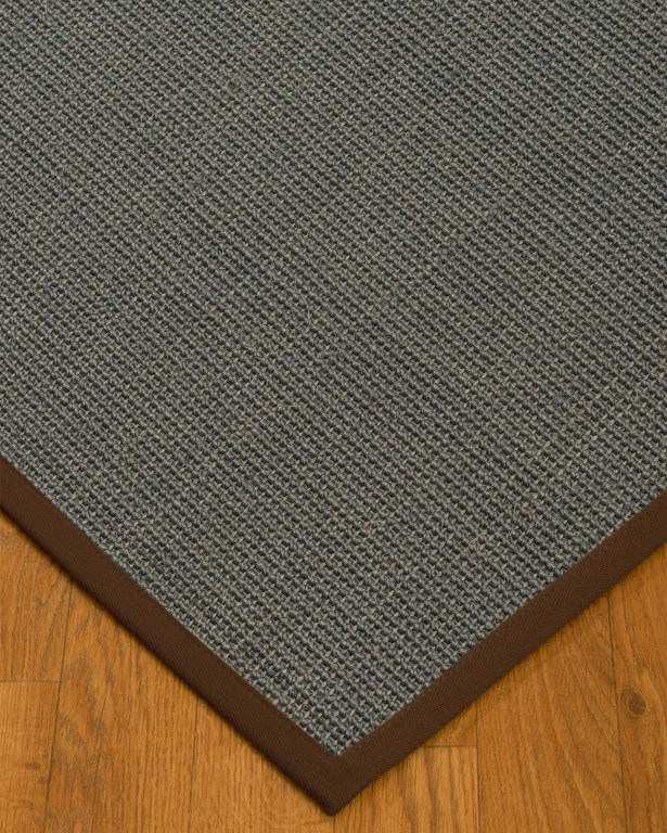 Ivy Border Hand-Woven Gray/Brown Area Rug Rug Size: Rectangle 6' x 9', Rug Pad Included: Yes