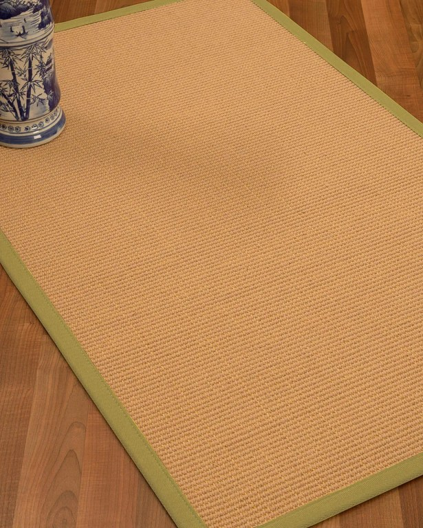 Lafayette Border Hand-Woven Wool Beige/Sage Area Rug Rug Pad Included: No, Rug Size: Rectangle 3' x 5'