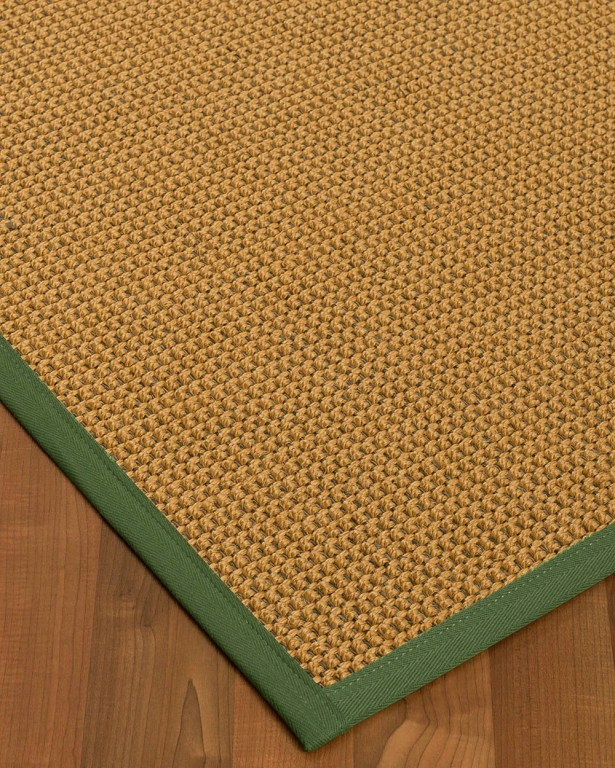 Atia Border Hand-Woven Beige/Green Area Rug Rug Size: Rectangle 5' x 8', Rug Pad Included: Yes