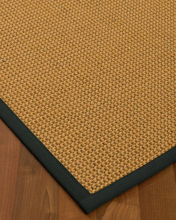 Atia Border Hand-Woven Beige/Onyx Area Rug Rug Size: Rectangle 12' x 15', Rug Pad Included: Yes