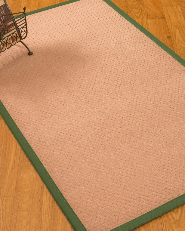 Farnham Border Hand-Woven Wool Pink/Green Area Rug Rug Size: Rectangle 8' x 10', Rug Pad Included: Yes