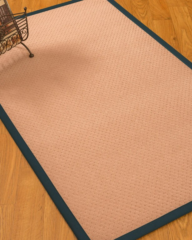 Farnham Border Hand-Woven Wool Pink/Marine Area Rug Rug Size: Rectangle 9' x 12', Rug Pad Included: Yes
