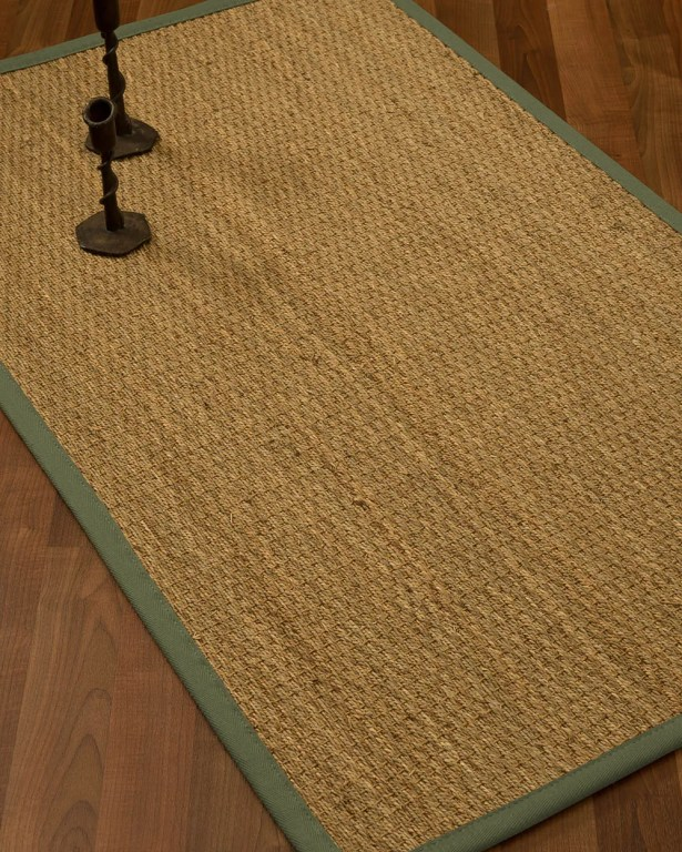 Vanmatre Border Hand-Woven Beige/Fossil Area Rug Rug Size: Rectangle 8' x 10', Rug Pad Included: Yes