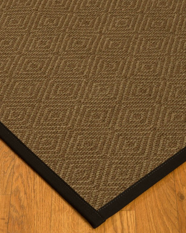 Kendricks Border Hand-Woven Brown/Black Area Rug Rug Size: Rectangle 5' x 8', Rug Pad Included: Yes