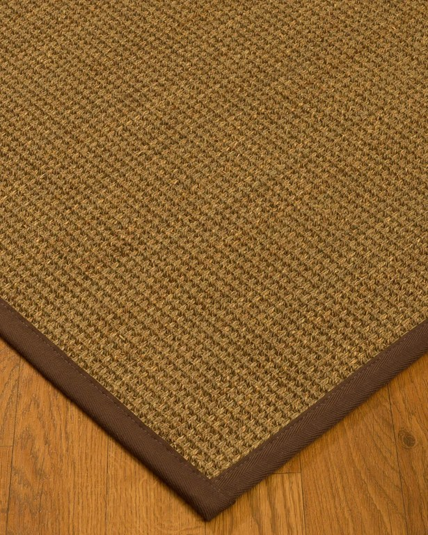 Kentwood Border Hand-Woven Beige/Brown Area Rug Rug Size: Rectangle 8' x 10', Rug Pad Included: Yes