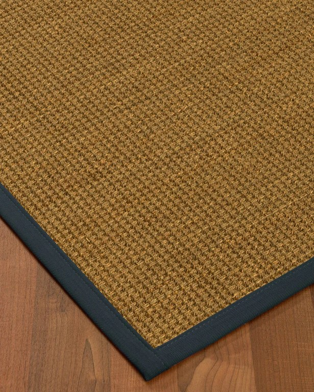 Chavez Border Hand-Woven Beige/Marine Area Rug Rug Pad Included: No, Rug Size: Runner 2'6