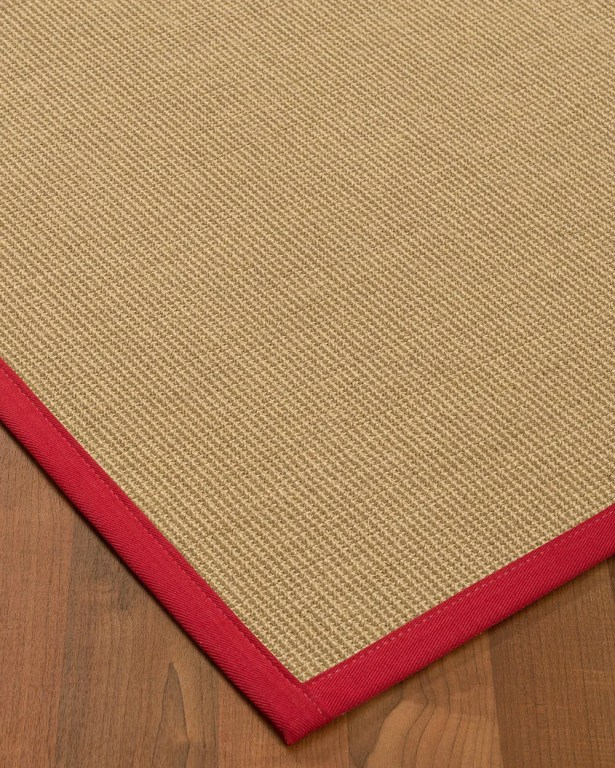 Atwell Border Hand-Woven Beige/Red Area Rug Rug Pad Included: No, Rug Size: Runner 2'6