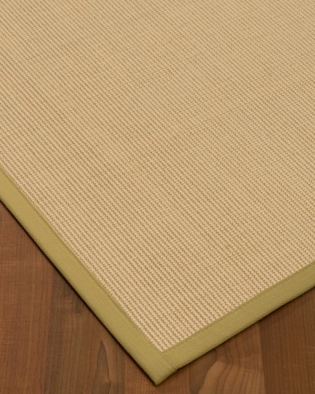Vannatta Border Hand-Woven Wool Beige/Green Area Rug Rug Size: Rectangle 6' x 9', Rug Pad Included: Yes