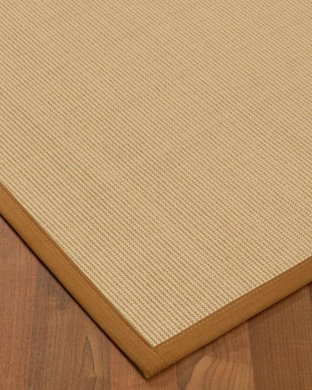 Vannatta Border Hand-Woven Wool Beige/Sienna Area Rug Rug Size: Rectangle 4' x 6', Rug Pad Included: Yes