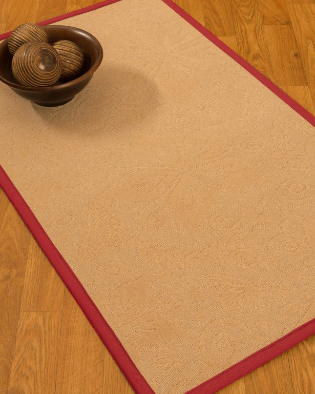 Vanmeter Border Hand-Woven Wool Beige/Red Area Rug Rug Size: Rectangle 12' x 15', Rug Pad Included: Yes