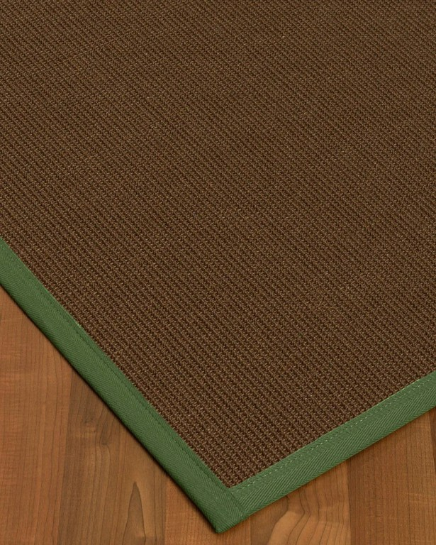 Heider Border Hand-Woven Brown/Green Area Rug Rug Size: Rectangle 8' x 10', Rug Pad Included: Yes