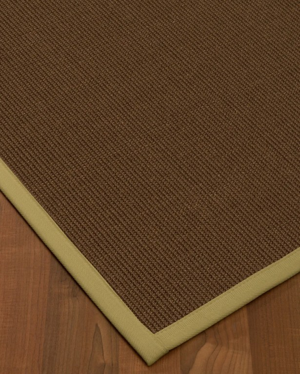 Heider Border Hand-Woven Brown/Natural Area Rug Rug Size: Rectangle 4' x 6', Rug Pad Included: Yes
