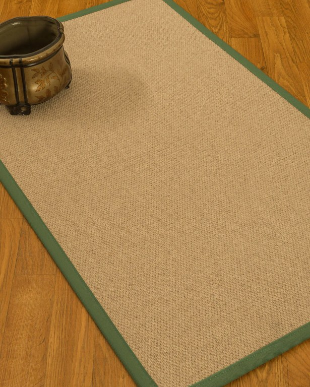 Chavira Border Hand-Woven Wool Beige/Green Area Rug Rug Size: Rectangle 8' x 10', Rug Pad Included: Yes
